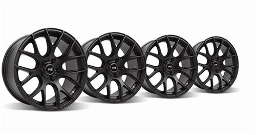 1994-04 Mustang Flat Black SVE Drift Kit- 18X9 And 18X10 - Picture of 1994-04 Mustang Flat Black SVE Drift Kit- 18X9 And 18X10
