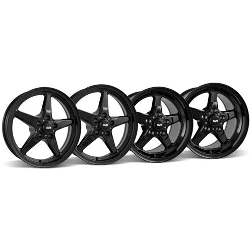 Mustang SVE Drag Wheel Kit 17X4.5/15x10 Gloss Black (05-14)