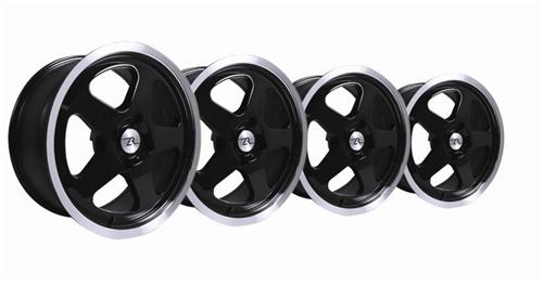 1979-93 Mustang Black Sc Style Wheel Kit- 17X8 - Pictures 1979-93 Mustang Black Sc Style Wheel Kit- 17X8