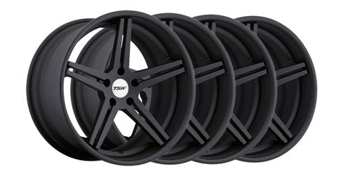 2005-14 Mustang TSW Mirabeau Matte Black 19x8.5,9.5 Wheel Kit