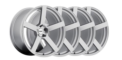 2005-14 Mustang TSW Panorama SIlver w/ Mirror Cut 20x8.5, 10 Wheel Kit