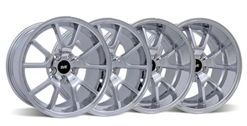 Mustang FR500 Wheel Kit - 20x8.5/10 Chrome (05-14)