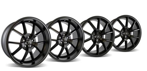 2005-14 Mustang FR500 Matte Black Wheel Kit 20x8.5 and 10.5 - Picture of 2005-14 Mustang FR500 Matte Black Wheel Kit 20x8.5 and 10.5