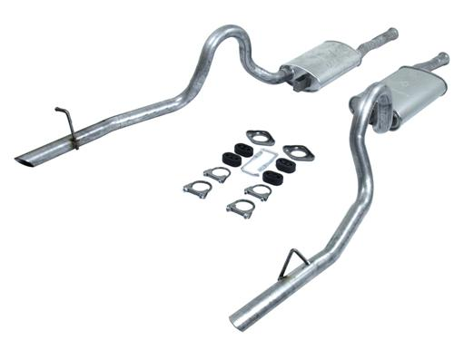 Mustang Direct Fit Dual Cat Back Exhaust Kit Exc. 87-88 GT (86-88) - Picture of Mustang Direct Fit Dual Cat Back Exhaust Kit Exc. 87-88 GT (86-88)