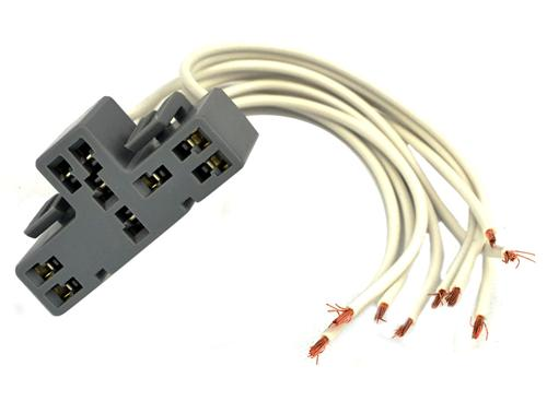 1987-93 Mustang Multifunction Switch Wiring Connecter Harness Pigtail, T-Shaped 9 Pin - wp472