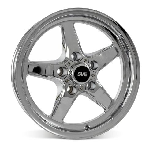 SVE Mustang Drag Wheel & Tire Kit 15X10/15X3.75 Chrome  (05-10) Mickey Thomson ET Street