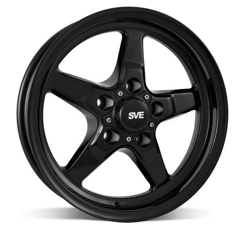 SVE Mustang Drag Wheel & Tire Kit 15X10/15X3.75 Gloss Black  (05-10)