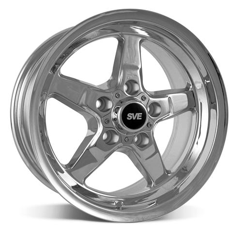 SVE Mustang Drag Wheel & Tire Kit 15X10/15X3.75 Chrome  (94-04) Mickey Thomson ET Street