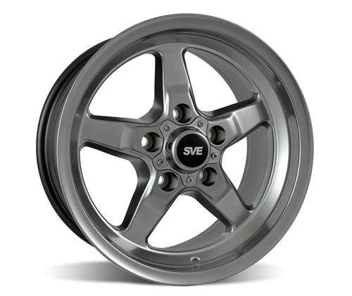 SVE Mustang Drag Wheel & Tire Kit 15X10/15X3.75 Dark Stainless  (94-04) Mickey Thomson ET Street