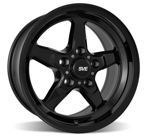 SVE Mustang Drag Wheel & Tire Kit 15X8/17X4.5 Gloss Black  (94-14)
