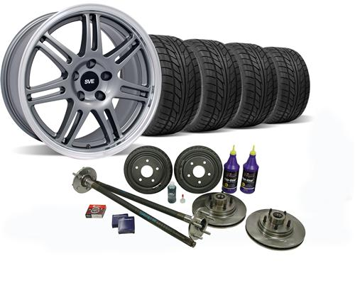 SVE Mustang 5-Lug Conversion Wheel & Nitto Tire Kit 17x9 Anthracite (87-93)