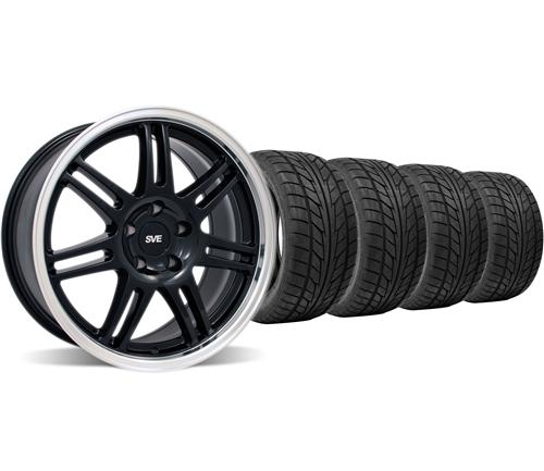 SVE Mustang Anniversary Wheel & Tire Kit - 18x9 Black (94-04) Nitto NT555