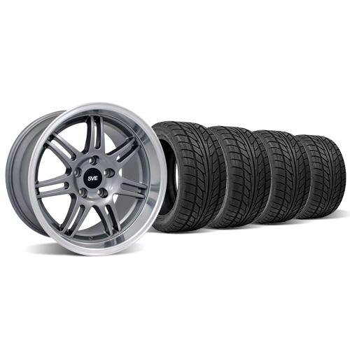 SVE Mustang Anniversary Staggered Wheel & Tire Kit 18x9/10 Anthracite (94-04) Nitto NT555