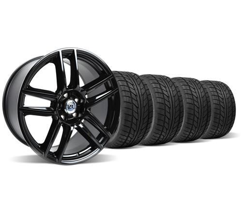 Mustang Boss 302 S Wheel & Tire Kit - 19X9  Gloss Black  (05-14)
