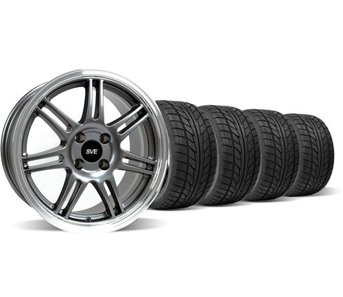 Mustang Anniversary Wheel & Nitto Tire Kit - 17x9 Anthracite (79-93)