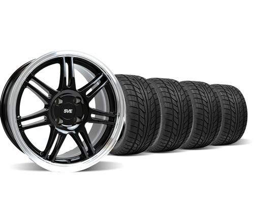 Mustang Anniversary Wheel & Nitto Tire Kit - 17x9 Black (79-93)