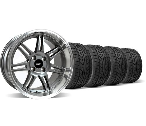 Mustang Anniversary Deep Dish Wheel & Nitto Tire Kit Anthracite 17x9/10 (79-93)