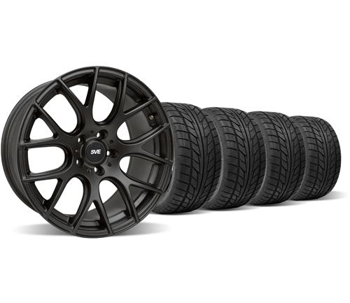 SVE Mustang Drift Wheel & Nitto Tire Kit - 19X9.5 Flat Black (05-14)