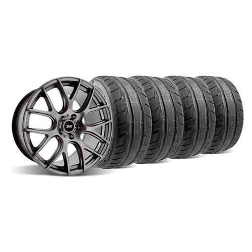 05-14 MUSTANG Dark Stainless SVE DRIFT WHEEL & NITTO NT05 TIRE KIT - 19X9.5