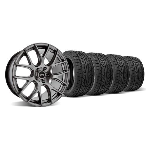 SVE Mustang Drift Wheel & Tire Kit - 19X9.5 Dark Stainless (05-14) Nitto NT555