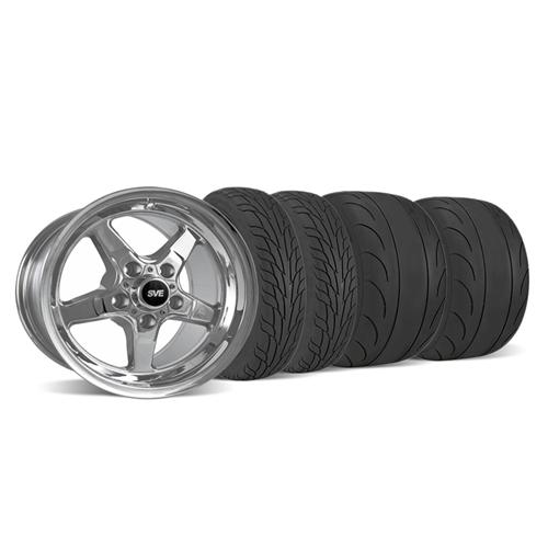 SVE Mustang Drag Wheel & Tire Kit 15X10/17X4.5 Chrome  (05-14) - SVE Mustang Drag Wheel & Tire Kit 15X10/17X4.5 Chrome  (05-14)