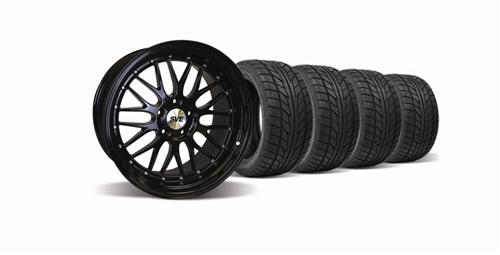 SVE Mustang Series One Wheel & Nitto Tire Kit Black (94-04) - Picture of SVE Mustang Series One Wheel & Nitto Tire Kit Black (94-04)