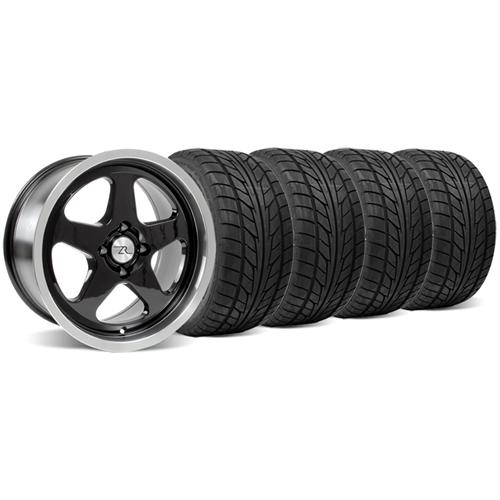 Mustang SC Wheel & Tire Kit - 17x8 Black (79-93) Nitto NT555 - Mustang SC Wheel & Tire Kit - 17x8 Black (79-93) Nitto NT555