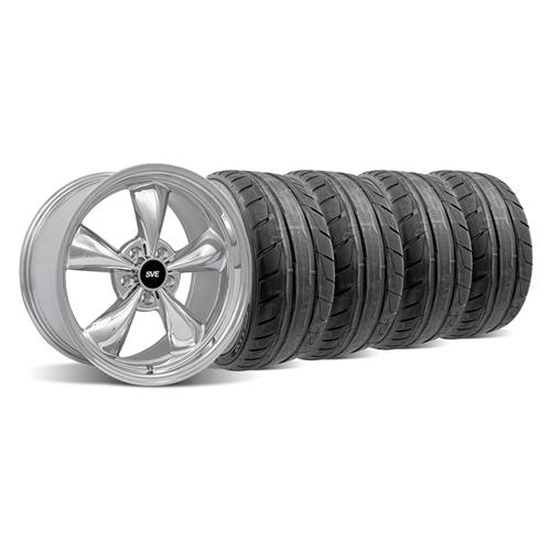 94-04 MUSTANG CHROME BULLITT WHEEL & NITTO NT05 TIRE KIT - 18X9 - 94-04 MUSTANG CHROME BULLITT WHEEL & NITTO NT05 TIRE KIT - 18X9