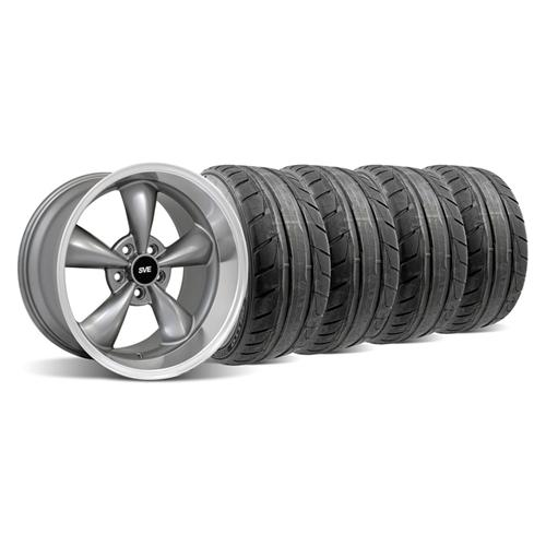 94-04 MUSTANG ANTHRACITE DEEP DISH BULLITT WHEEL & NITTO NT05 TIRE KIT - 18X9/10
