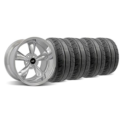 94-04 MUSTANG CHROME DEEP DISH BULLITT WHEEL & NITTO NT05 TIRE KIT - 18X9/10