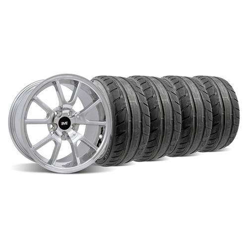 94-04 MUSTANG CHROME FR500 WHEEL & NITTO NT05 TIRE KIT - 18X9