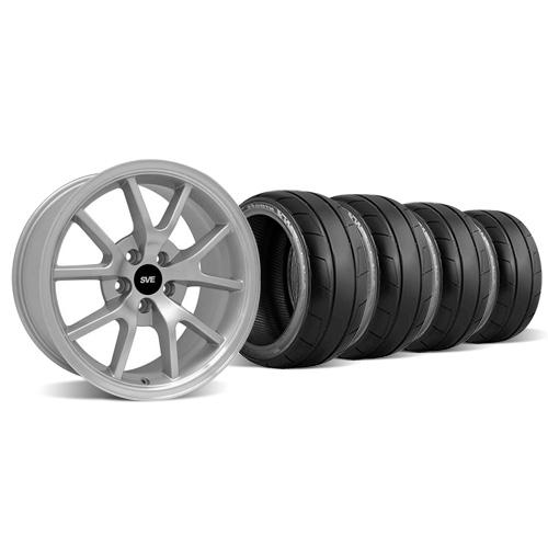 Mustang FR500 Wheel & Tire Kit - 18x9 Silver (94-04) Nitto NT05