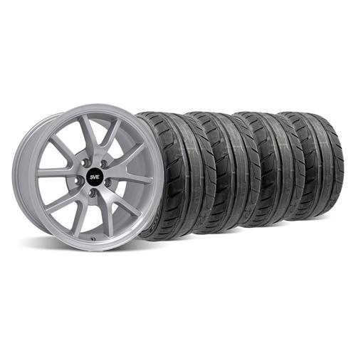 Mustang FR500 Wheel & NT05 Tire Kit - 18x9 Silver (94-04)