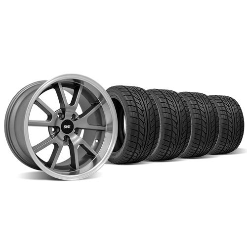 Staggered FR500 Wheel & Tire Kit - 18x9/10 Mustang Anthracite (94-04) Nitto NT555