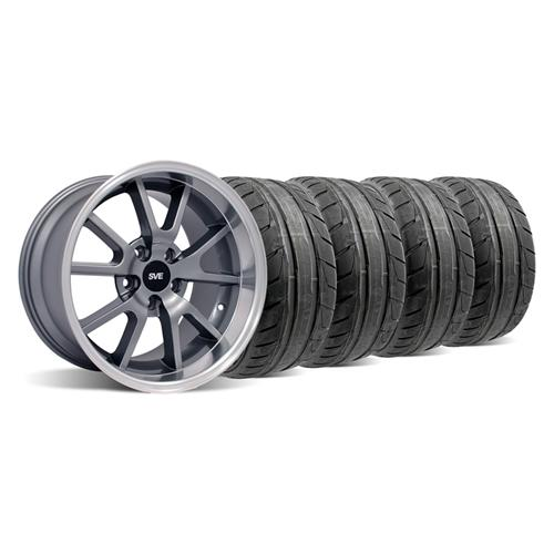 Mustang FR500 Wheel & NT05 Tire Kit - 18x9 Anthracite (94-04)