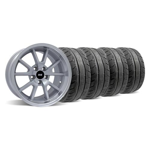Mustang Deep Dish FR500 Wheel & NT05 Tire Kit - 18x9/10 Silver (94-04) - Mustang Deep Dish FR500 Wheel & NT05 Tire Kit - 18x9/10 Silver (94-04)