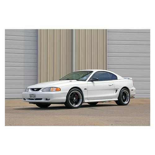 "SVE Mustang Series 2 Wheel & Tire Kit - 18x9/10"" Black w/ Polished Lip (94-04) - SVE Mustang Series 2 Wheel & Tire Kit - 18x9/10"" Black w/ Polished Lip (94-04)"