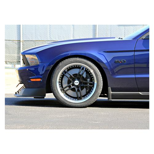 "SVE Mustang Series 2 Wheel & Tire Kit - 19x9/10"" Black w/ Polished Lip (05-14) - SVE Mustang Series 2 Wheel & Tire Kit - 19x9/10"" Black w/ Polished Lip (05-14)"