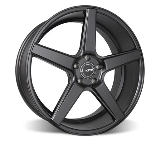 2005-14 Mustang KMC 685 District Wheel and Tire Kit Black - 2005-14 Mustang KMC 685 District Wheel and Tire Kit Black