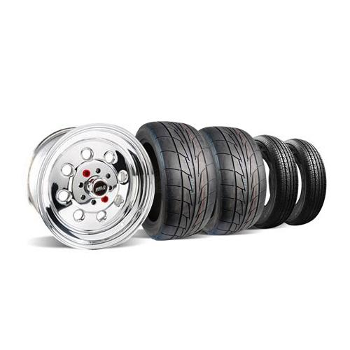 Weld Mustang Draglite Wheel & Tire Kit - 15X3.5/8 (79-93) Nitto NT555R - Weld Mustang Draglite Wheel & Tire Kit - 15X3.5/8 (79-93) Nitto NT555R