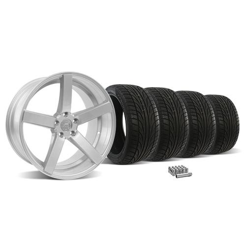 Mustang DF5 Wheel & Tire Kit - 20x8.5/10 Silver (05-14)