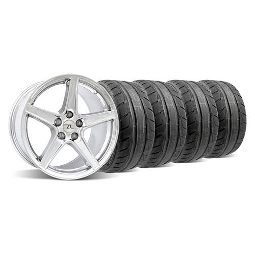 94-04 MUSTANG CHROME SALEEN WHEEL & NITTO NT05 TIRE KIT - 18X9/10